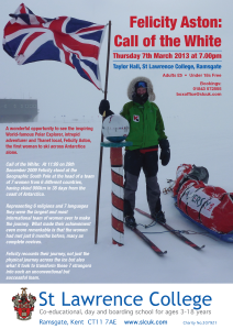Poster for the event